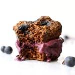 Chocolate Blueberry Muffin Ice Cream Sandwiches | Vegan & GF