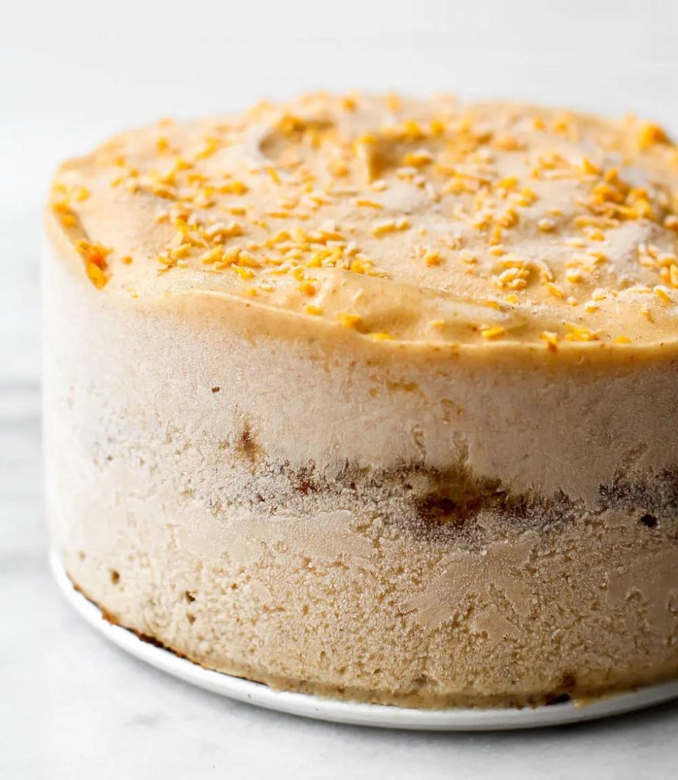 Carrot Cake Ice Cream Cake {vegan, gluten-free, oil-free}