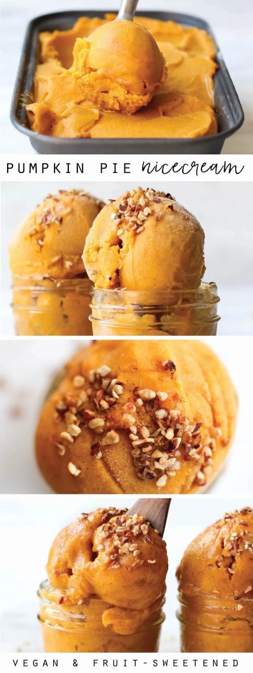 Pumpkin Banana Ice Cream | Vegan + Date-Sweetened