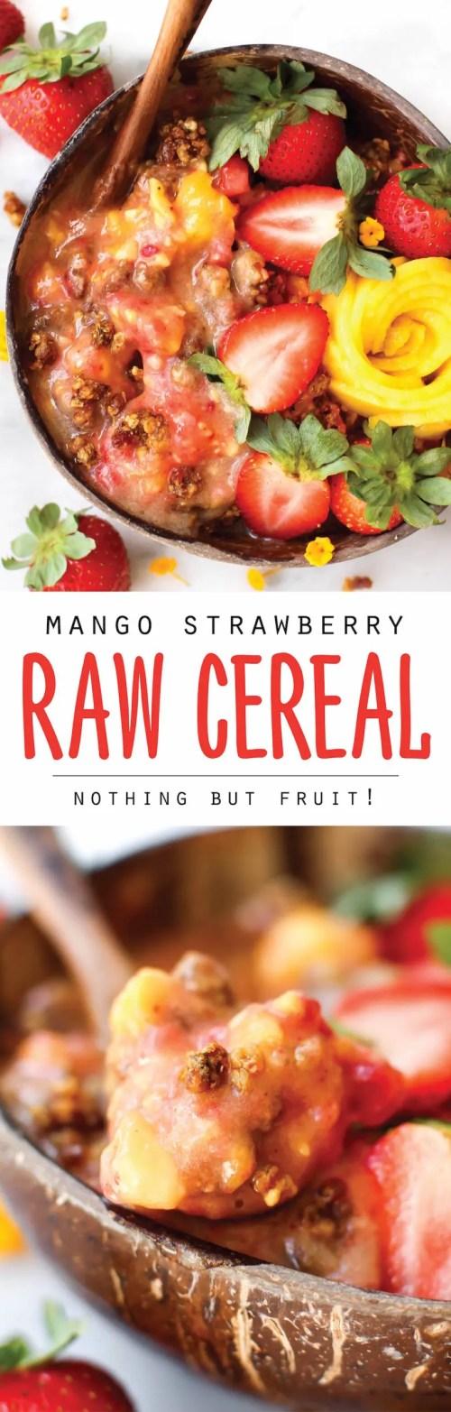 Mango Strawberry Raw Cereal | Vegan & 100% Fruit