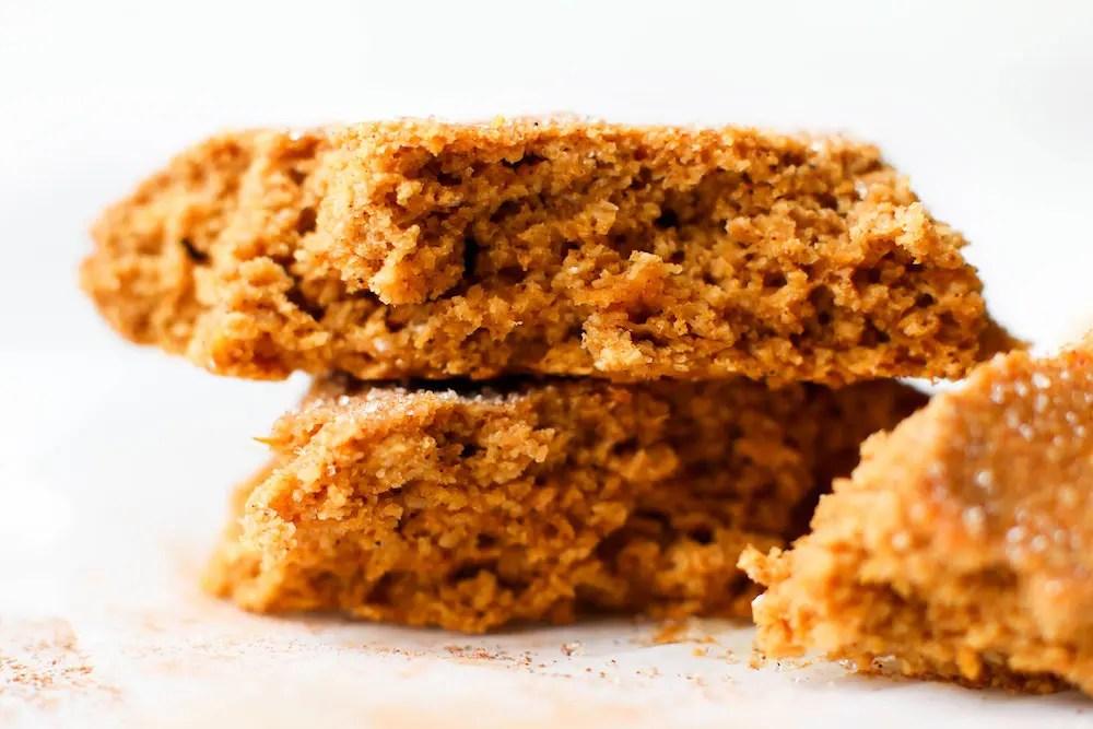 Pumpkin Snickerdoodle Single Cookie Recipe {vegan & gluten-free}