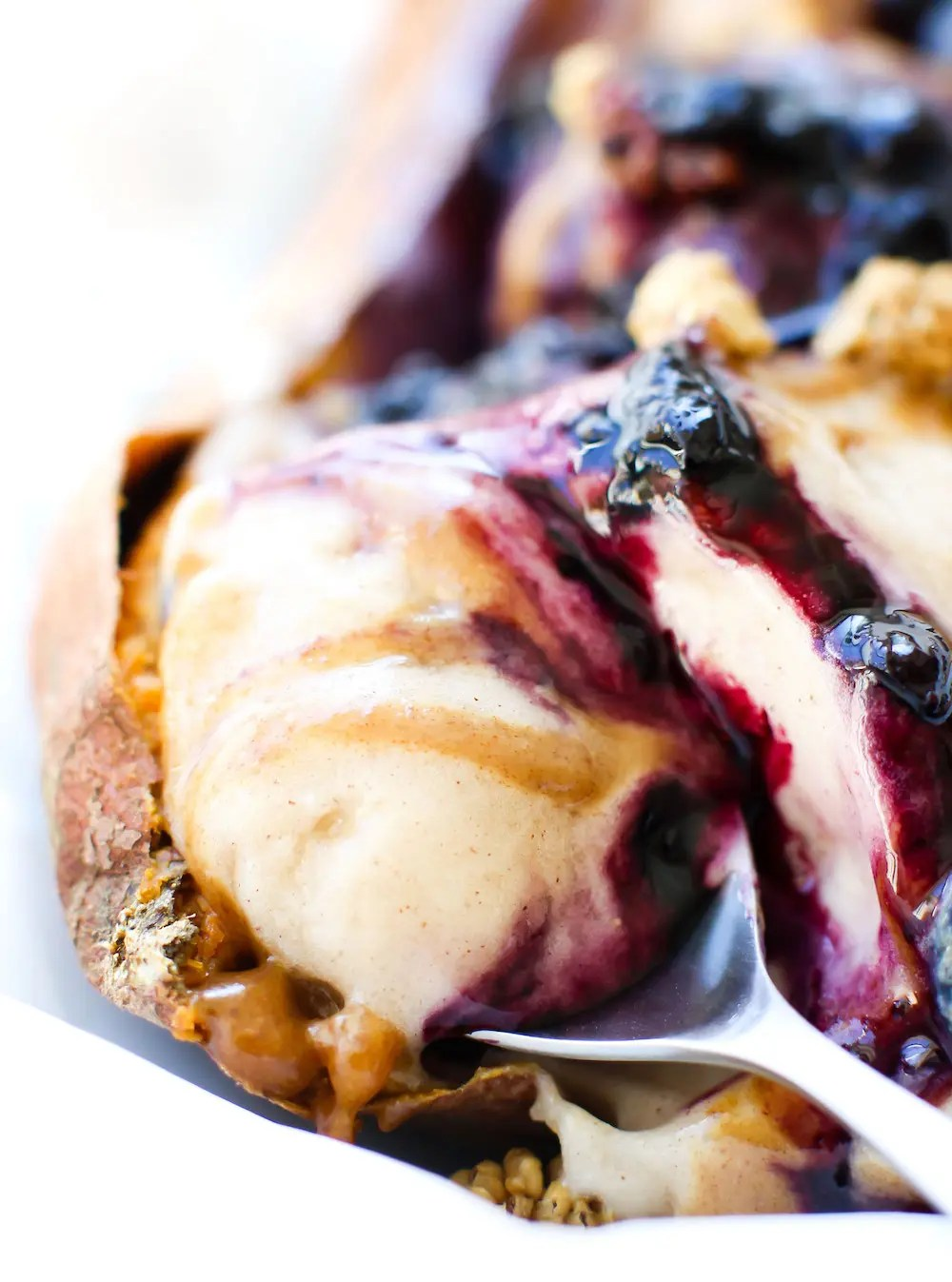 Sweet Potato Nice Cream Split {vegan}