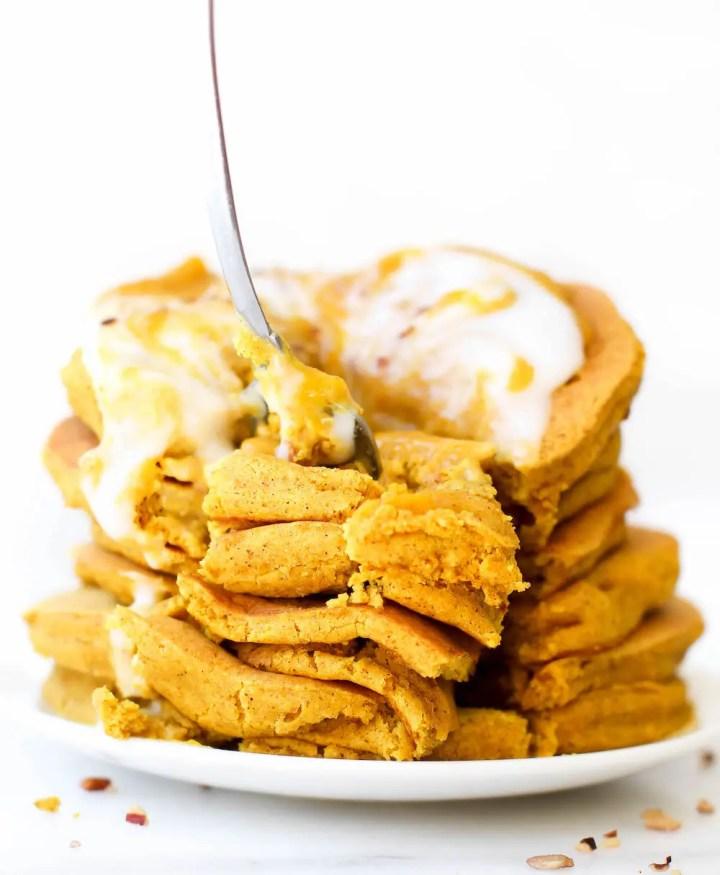 Turmeric Spice Pancakes {vegan & gluten-free}