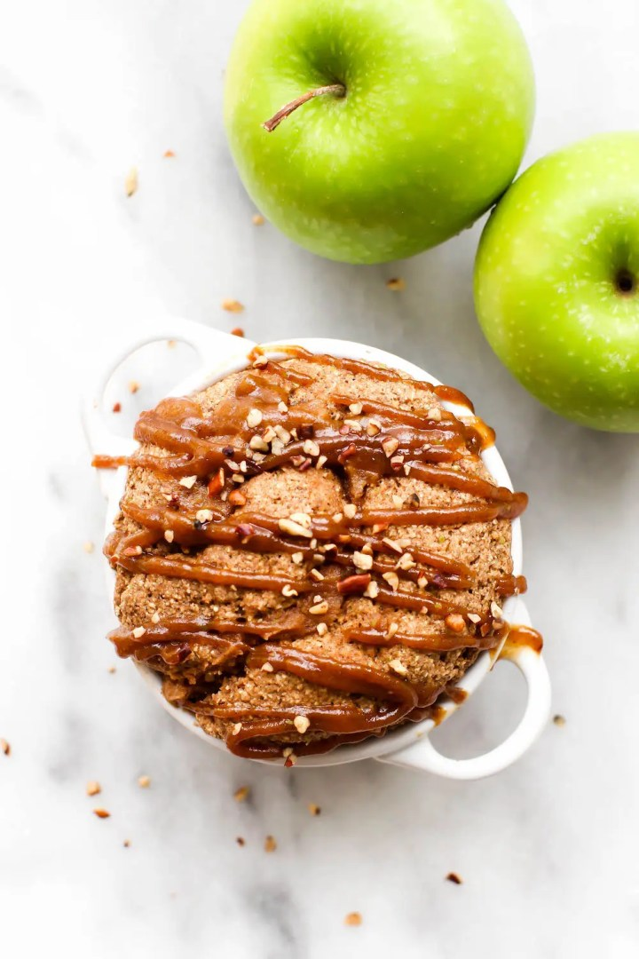 Caramel Apple Cinnamon Roll Mug Cake