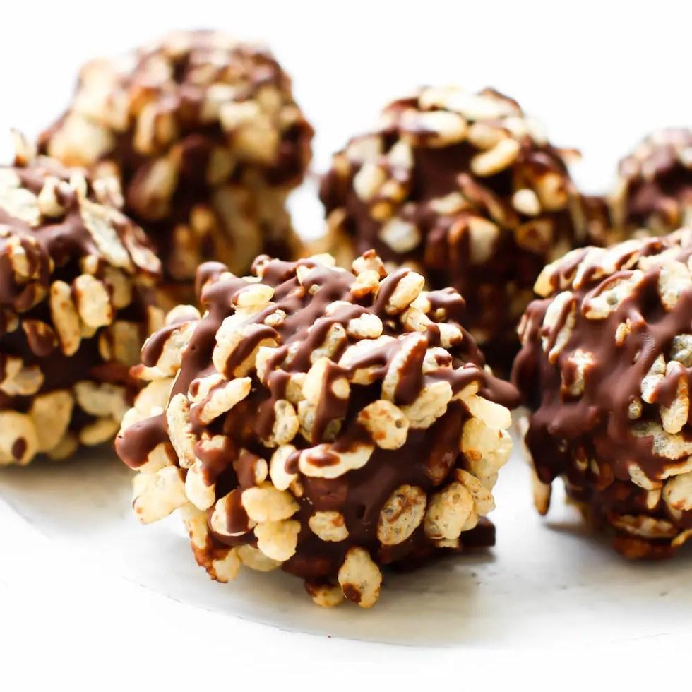 Rice Crispy Crunch Chocolate Truffles | Healthy Vegan Decadence