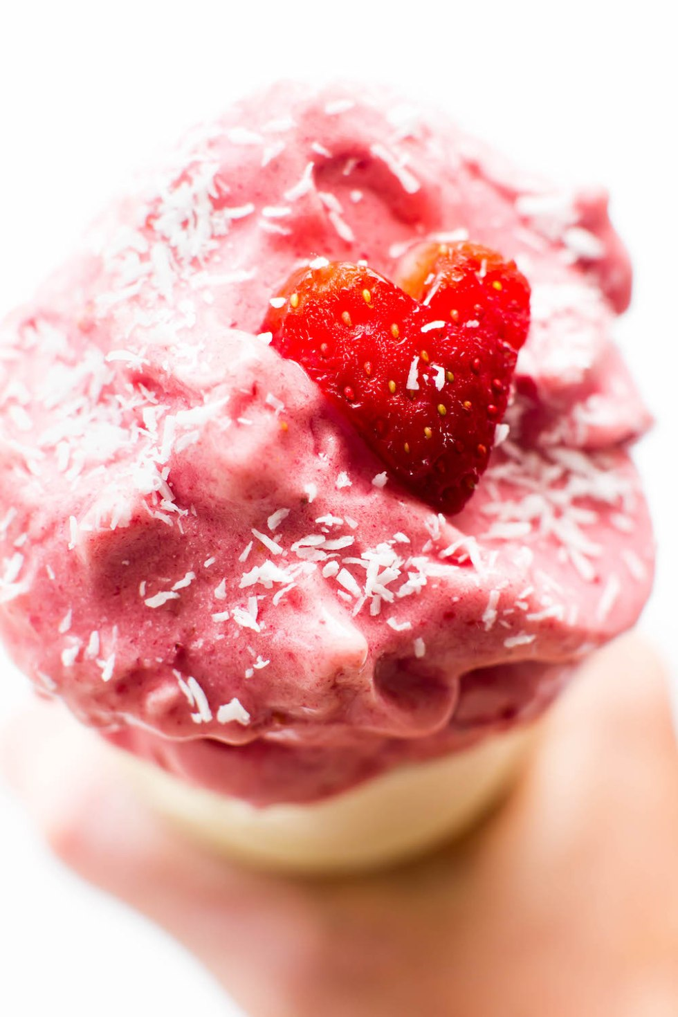 Raspberry Coconut Blender Ice Cream