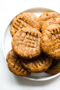 Chewy Grain-Free Peanut Butter Cookies