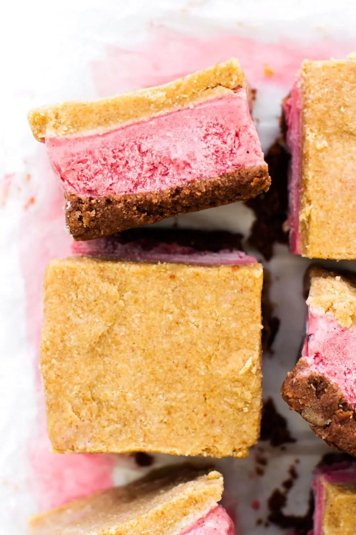 Neapolitan Ice Cream Sandwiches {vegan & paleo}