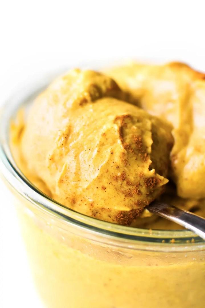 No-Churn Pumpkin Spice Ice Cream {vegan + paleo}
