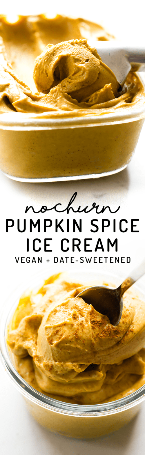 No-Churn Pumpkin Spice Ice Cream {vegan + paleo}