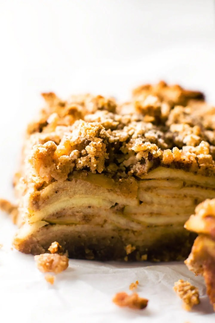 Grain-Free Apple Crumble Bars