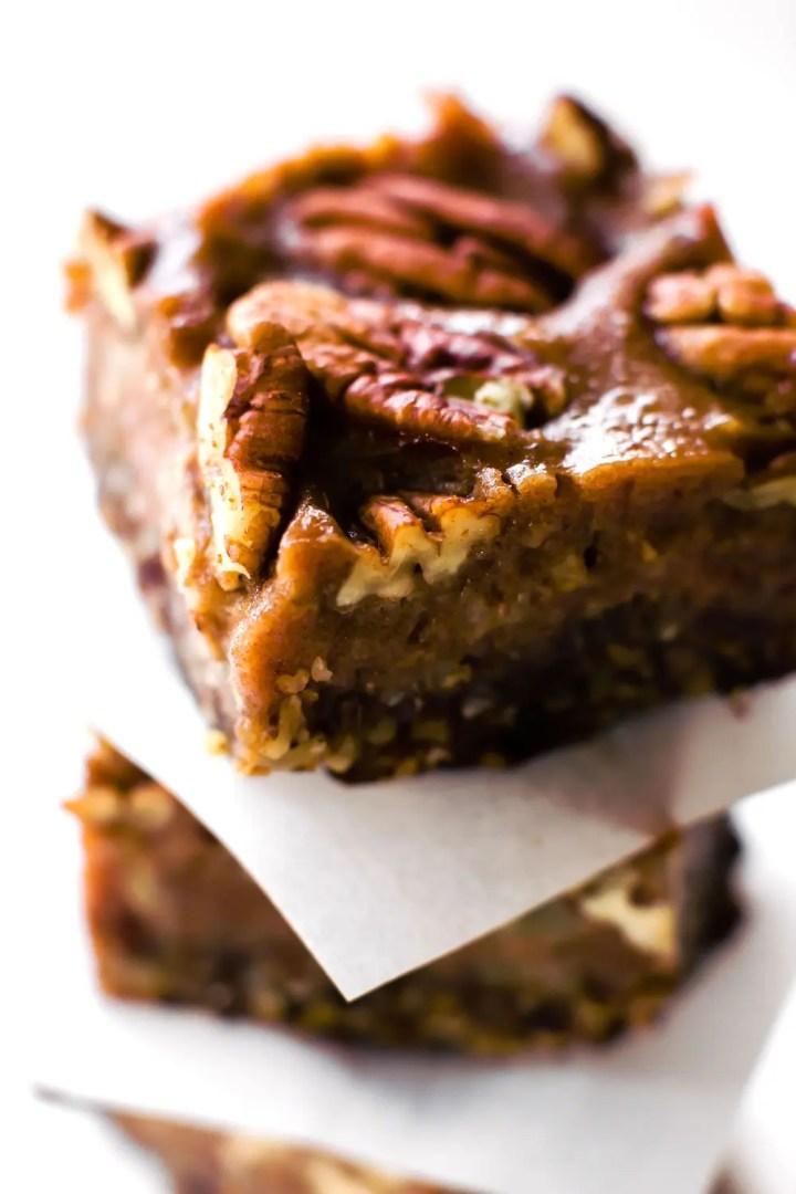 Vegan + Paleo Pecan Pie Bars