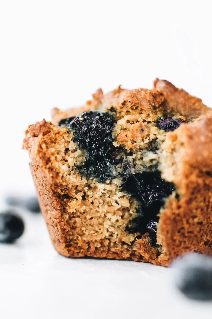 Vegan Paleo Blueberry Muffins