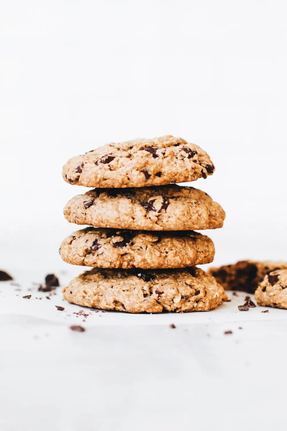 Chocolate Chunk Vegan Oatmeal Cookies