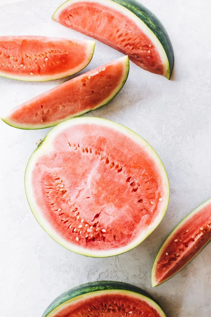 Watermelon Mint Ice Cream (Vegan) | Feasting on Fruit