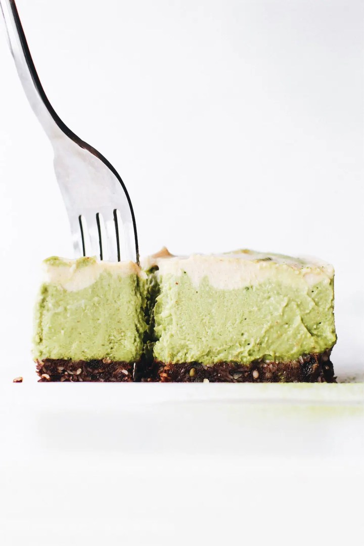 Vegan No-Bake Matcha Cheesecake