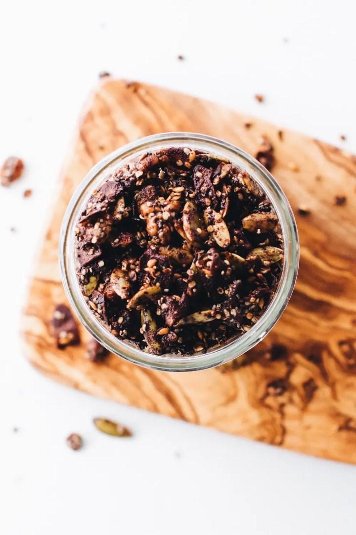 Grain-Free Chocolate Granola (vegan + paleo)