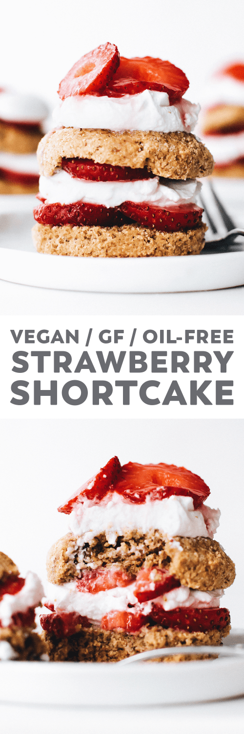 Vegan Strawberry Shortcake (Gluten-Free + Oil-Free)
