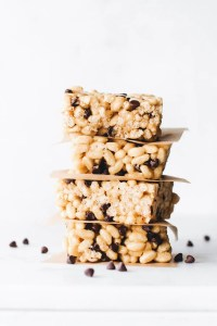 Vanilla Tahini Rice Crispy Treats