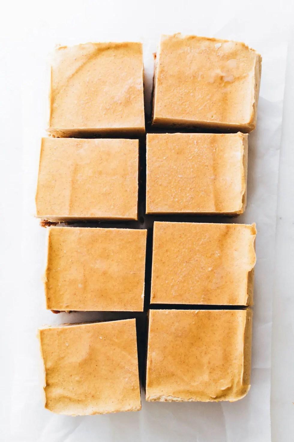 No-Bake Pumpkin Cheesecake Bars