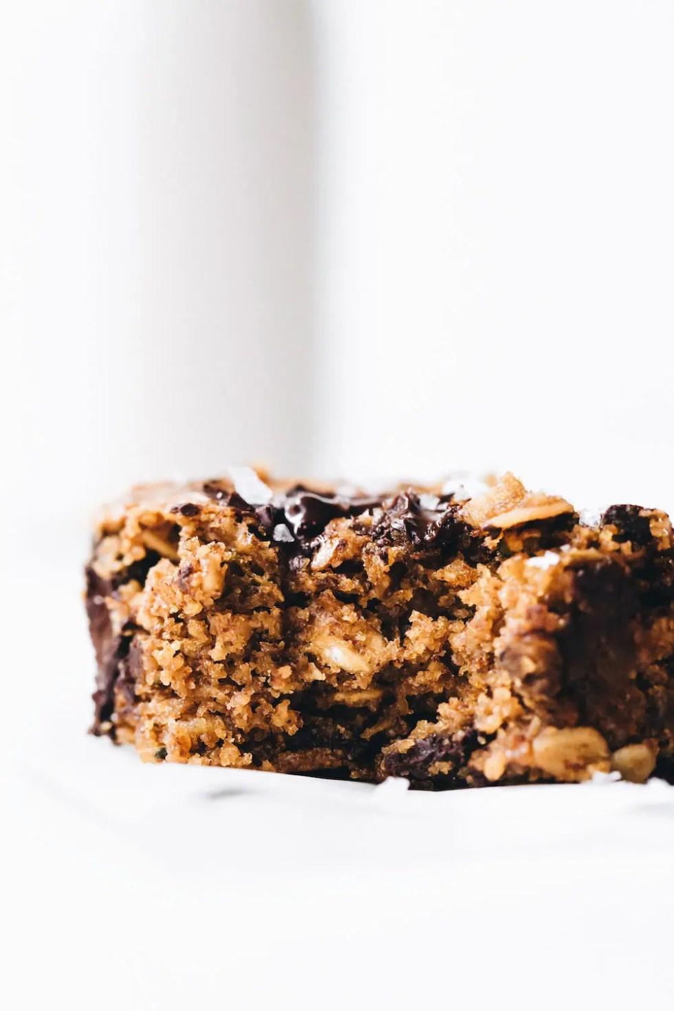 Chocolate Chunk Zucchini Blondies (vegan + gluten-free)