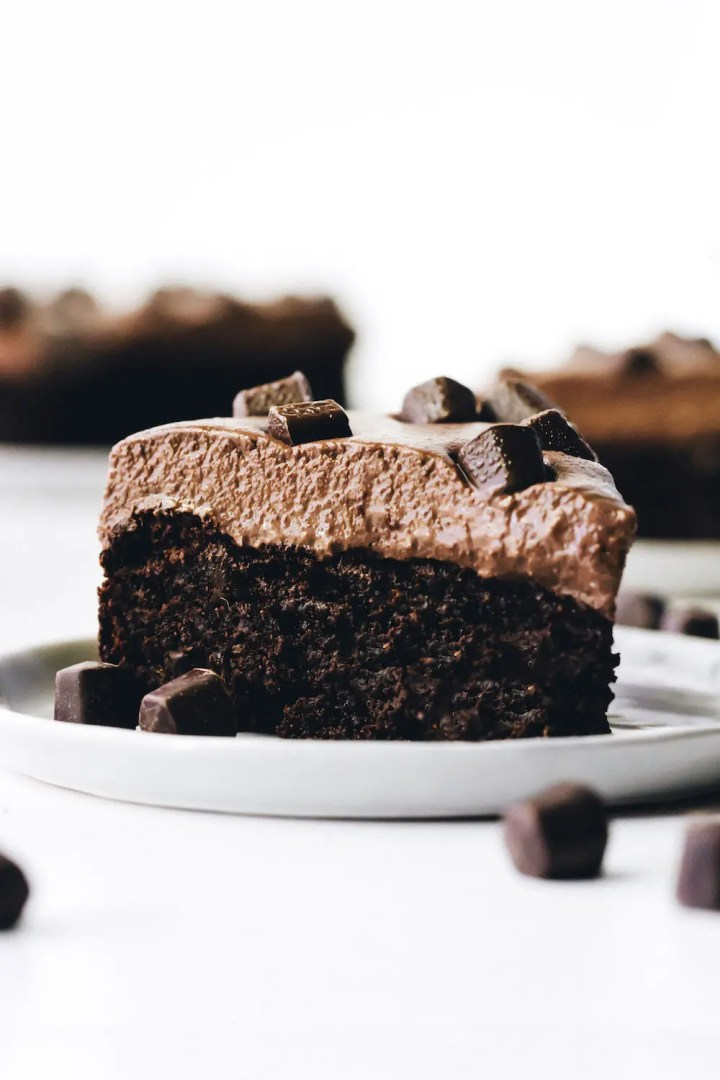 Brownie Mousse Cake (vegan + paleo)