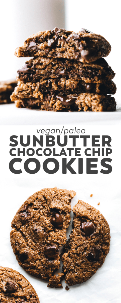 SunButter Chocolate Chip Cookies (vegan + paleo)