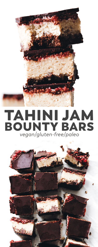 Tahini Jam Bounty Bars