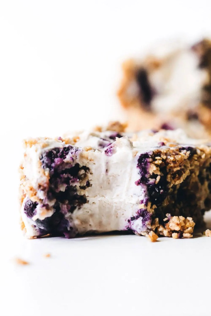 Blueberry Medjool Date Crunch Icebox Cake