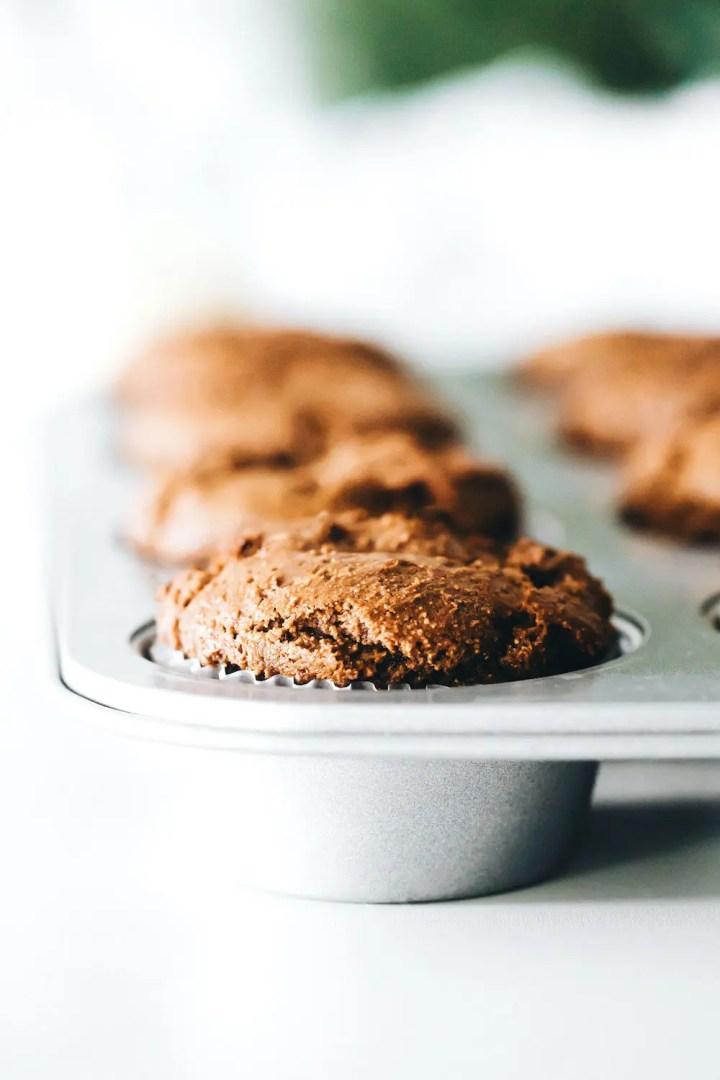 SunButter Gingerbread Muffins (vegan + paleo)
