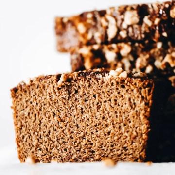 Cinnamon Buckwheat Banana Bread