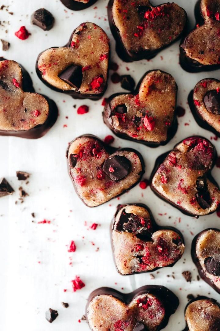 Dark Chocolate Raspberry Cookie Dough