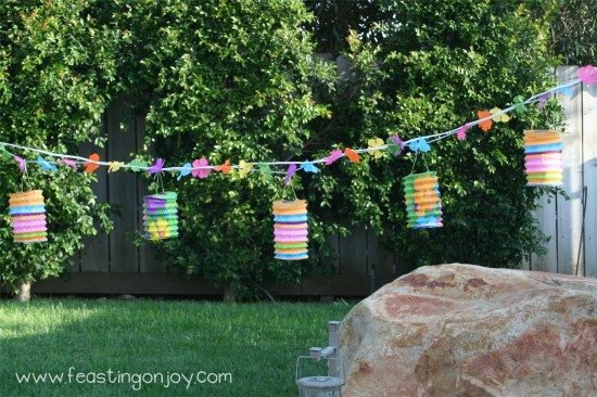 Luau garland for Luau birthday party