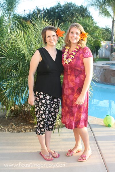 My sweet friend and me at my Luau party