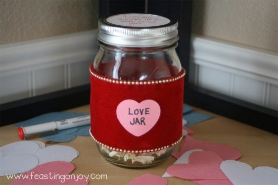 Love Jar for Valentines Day
