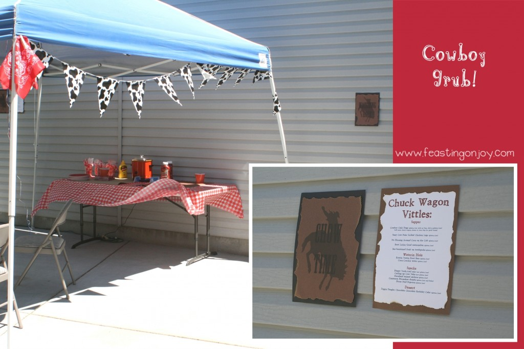 Cowboy Birthday party food and menu