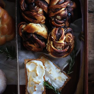 Fantastic Beasts and Where to Find Them: Jacob Kowalski's Pastry Suitcase - Chocolate Babka and Lemon Meringue Tart