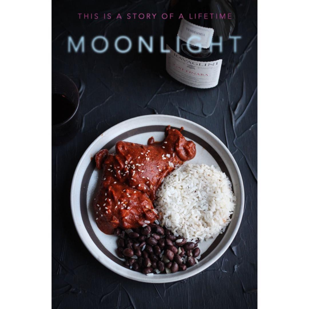 Chicken mole with black beans and rice from the moviehellip