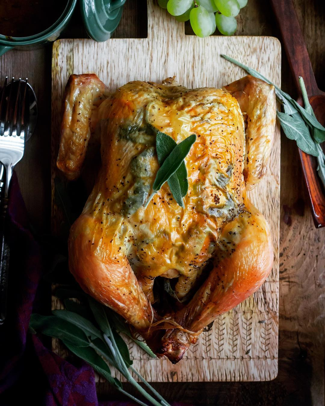 This butter and sage roast chicken is the perfect centerpiecehellip