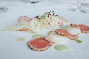Ceviche of Brixham scallop & tuna carpaccio