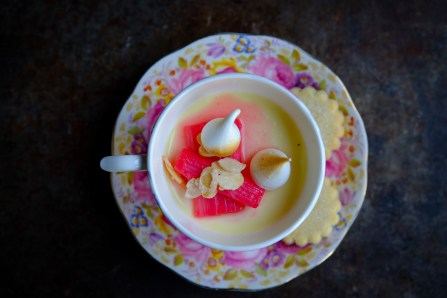 Ginger panna cotta