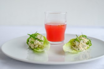 Crab with a watermelon gazpacho
