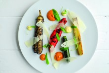 Grilled summer vegetables