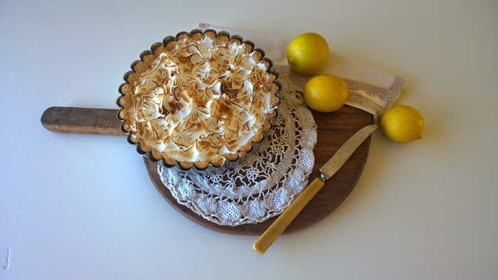 lemon meringue pie and a family of foodies