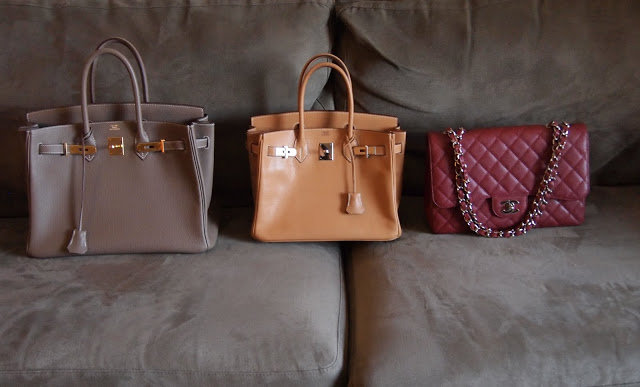 6b509fccab15 Bag comparison  Hermes Birkin 30cm and 35cm vs. Chanel Jumbo ...