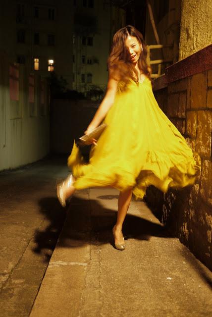 Dancing in a YSL dress