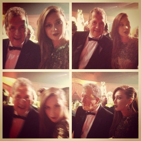 Goofing off with Mario Testino