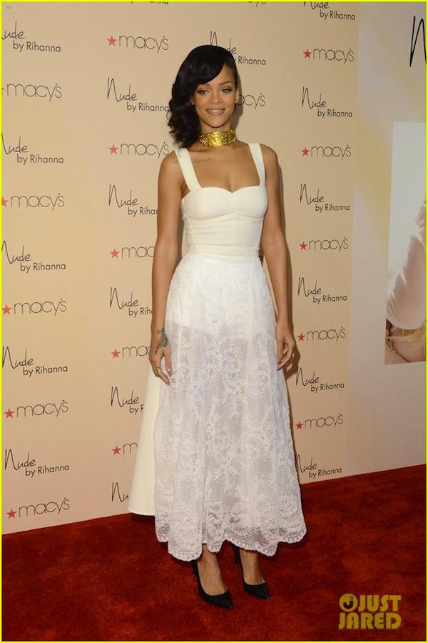 Rihanna in a Nini designed dress