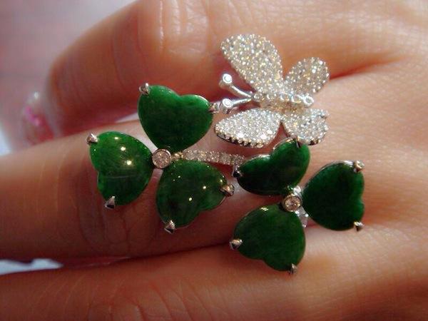 Flower Diamond Diamond Jade Ring2