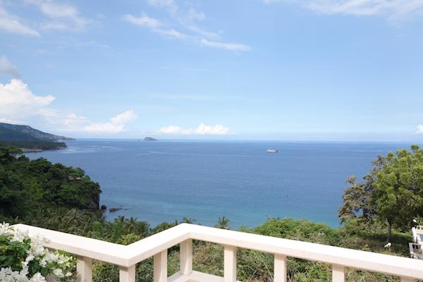 Our villa's ocean view in Bali